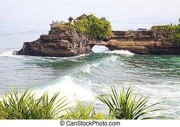 バリ, 寺院, 浜, インドネシア
