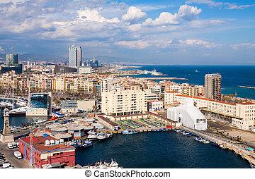 バルセロナ, 光景, 航空写真, 海岸