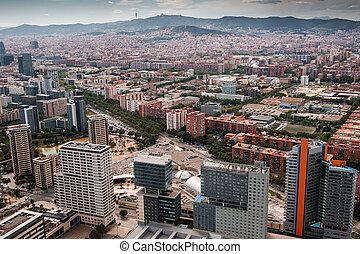 バルセロナ, 航空写真, スペイン, 光景