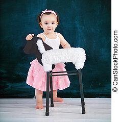 バレエ, 赤ん坊, 身に着けていること, 古い, スーツ, 肖像画, 1(人・つ), 年