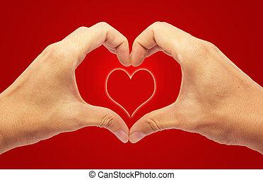 バレンタインデー, -, 作成, 心, ∥で∥, 2, 実地である, 赤い背景