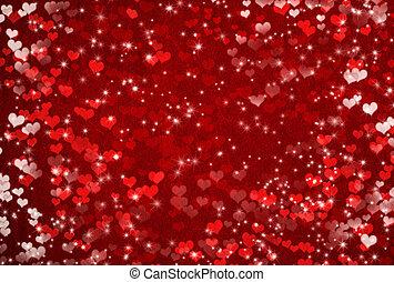 バレンタインデー, 心, 星, 背景