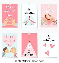 バレンタインデー, 挨拶, カード。