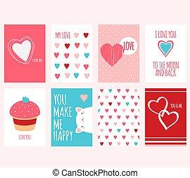 バレンタインデー, 旗, セット