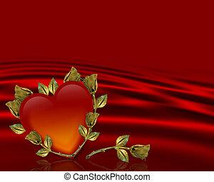バレンタインデー, 背景, カード