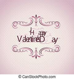 バレンタインデー, 背景, 型