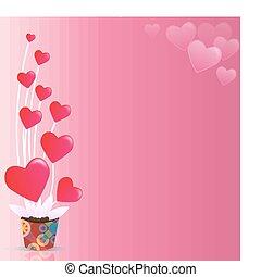 バレンタインデー, 背景, 抽象的