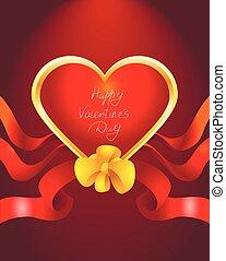 バレンタイン, カード, 赤
