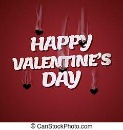 バレンタイン, キューピッド, 日, 銃弾, 心, 撃つ, 幸せ