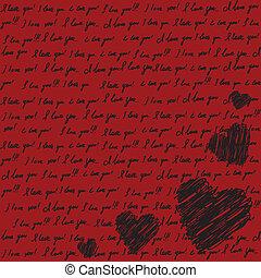 バレンタイン, スクラップブック, カード