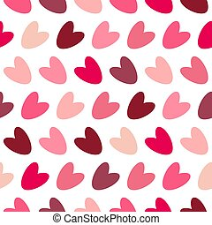 バレンタイン, パターン, ピンク, カラフルである, seamless, hearts.