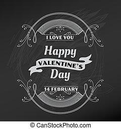 バレンタイン, -, ベクトル, デザイン, スクラップブック, 日, カード