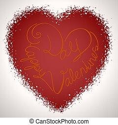 バレンタイン, ベクトル, 日, カード