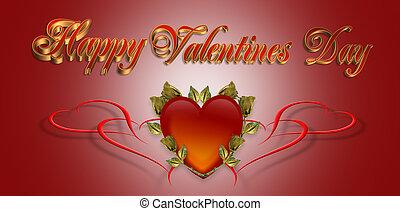 バレンタイン, 背景, 日, カード