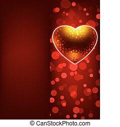 バレンタイン, eps, 日, 8, template., カード