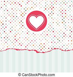 バレンタイン, eps, space., 8, コピー, カード