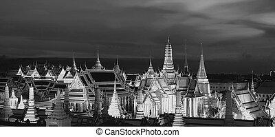 バンコク, kaew), phra, (wat, 仏, エメラルド, タイ, 寺院