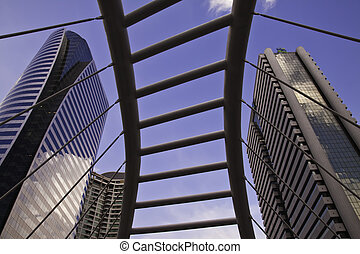 バンコク, skytrain, 都市の景観, metropolitant, architectures., 現場, ある...