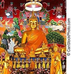 バンコク, thailand., 仏, 寺院, 像