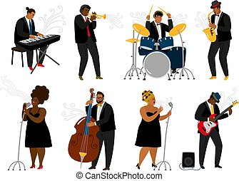 バンド, ジャズ, 漫画, 音楽家