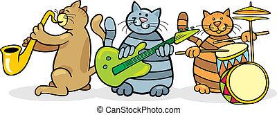 バンド, ネコ