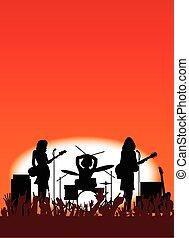 バンド, 女の子