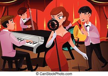 バンド, 女性, ジャズ・シンガー