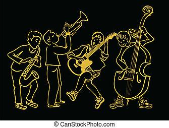 バンド, 子供, 音楽