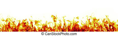 バージョン, 炎, 火, 背景, 白い赤, もっと