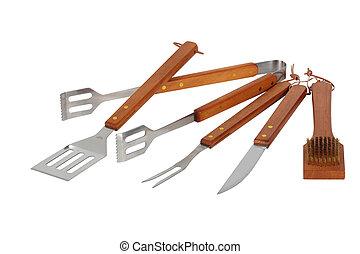 バーベキュー, 似合う, 道具