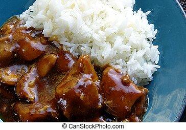 バーボン, 米を持つ鶏