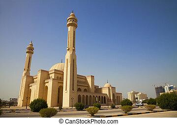 バーレーン, al-fateh, モスク, manama, 壮大