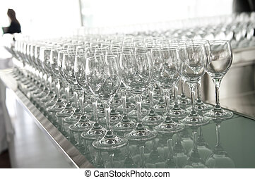 バー, たくさん, ガラス