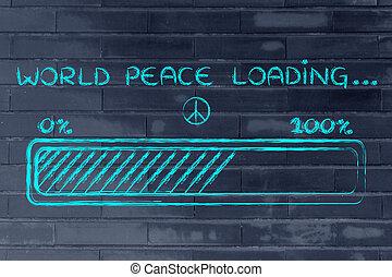 バー, ローディング, 平和, イラスト, progess, 世界