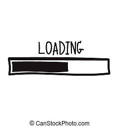バー, loading., イラスト, ベクトル, 進歩, design.