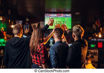 バー, tv, フットボール, 腕時計, スポーツ, 友人