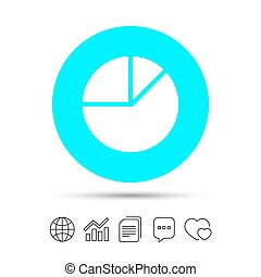 パイグラフ, チャート, button., 印, 図, icon.