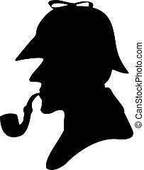 パイプ, シルエット, 喫煙者
