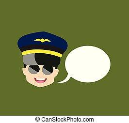 パイロット, -, スピーチ泡