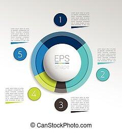 パイ, 円, チャート, infographic., ラウンド, graph.