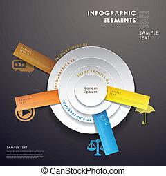 パイ, 抽象的, 3d, チャート, infographics