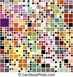 パステル, ブロック, 有色人種, パターン