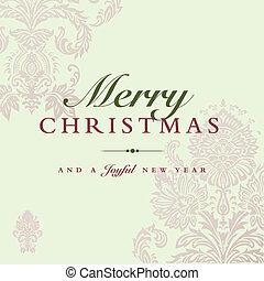 パステル, ベクトル, クリスマス, 背景, 招待
