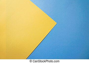パステル, blue., 黄色, ペーパー, 背景, design.