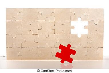 パズル小片, 完了しなさい, 欠けている