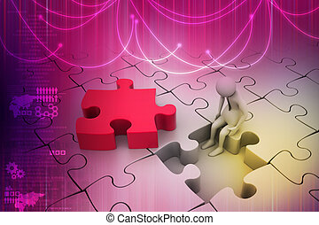 パズル小片, 金融, concept:, 危険