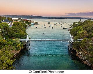 パセリ, 湾, 上に, シドニー 港