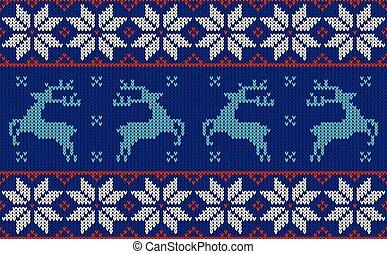 パターンデザイン, クリスマス, ジャンパー
