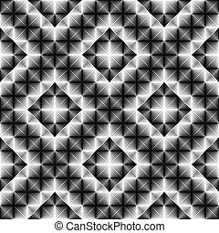 パターンデザイン, ダイヤモンド, 広場, seamless