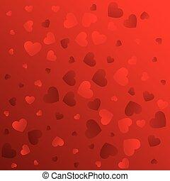 パターンデザイン, 背景, 愛, 赤